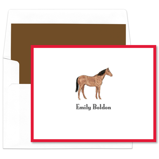 Horse Folded Note Cards