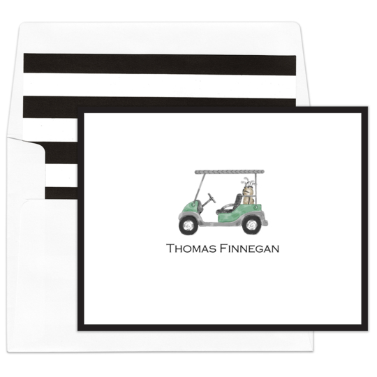 Golf Cart Folded Note Cards