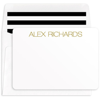 Modern Large Name Note Cards