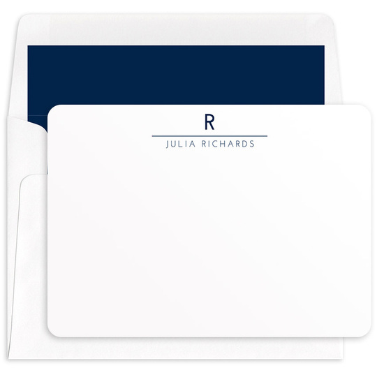 Modern Line Flat Note Cards