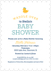 Navy Waddle Over Shower Invitations Image 6 of 6