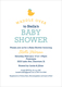 Navy Waddle Over Shower Invitations Image 4 of 6