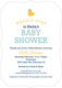 Navy Waddle Over Shower Invitations Image 3 of 6