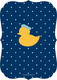 Navy Waddle Over Shower Invitations Image 2 of 6
