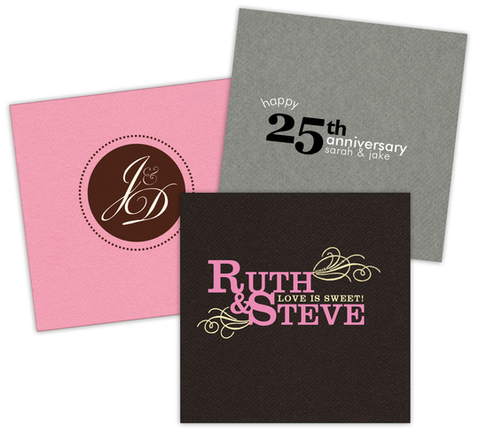 Custom Linen Like Napkins with Your 2-Color Artwork