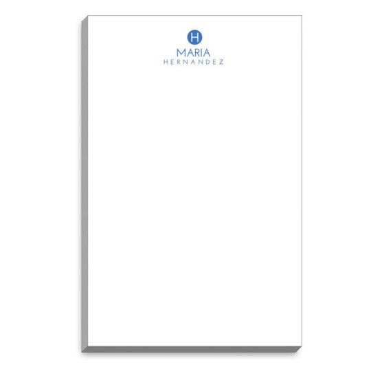 Circle Initial Notepads