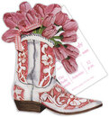 Cowgirl Boot with Tulips
