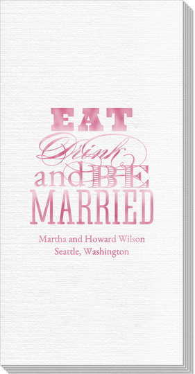 Eat Drink and Be Married Deville Guest Towels