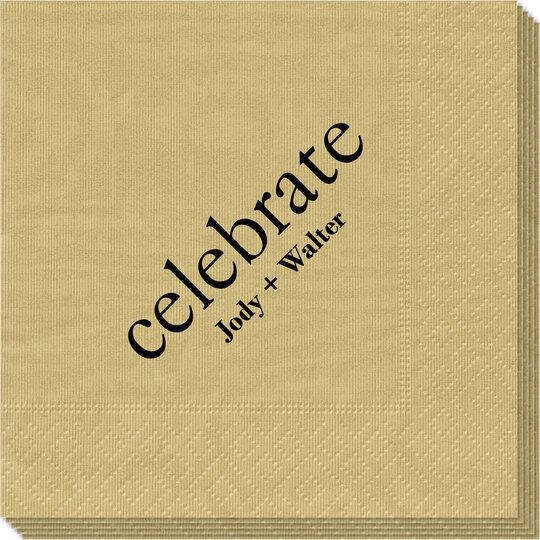Big Word Celebrate Moire Napkins