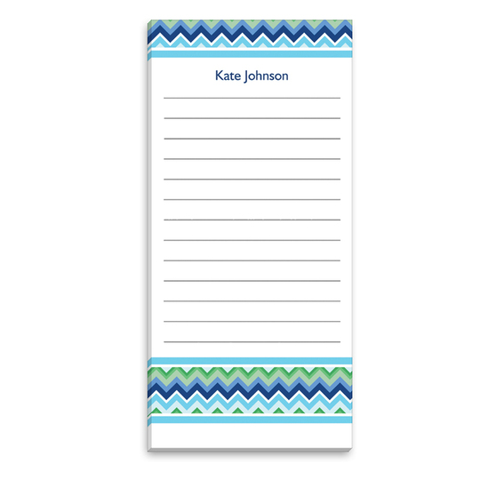 Blue Chevron List Notepad