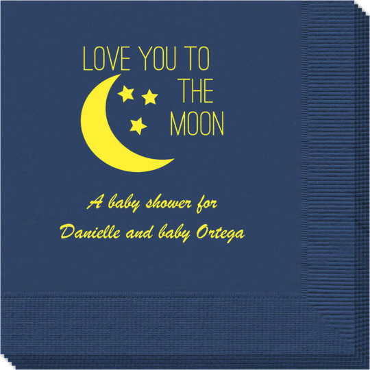 Love You To The Moon Napkins