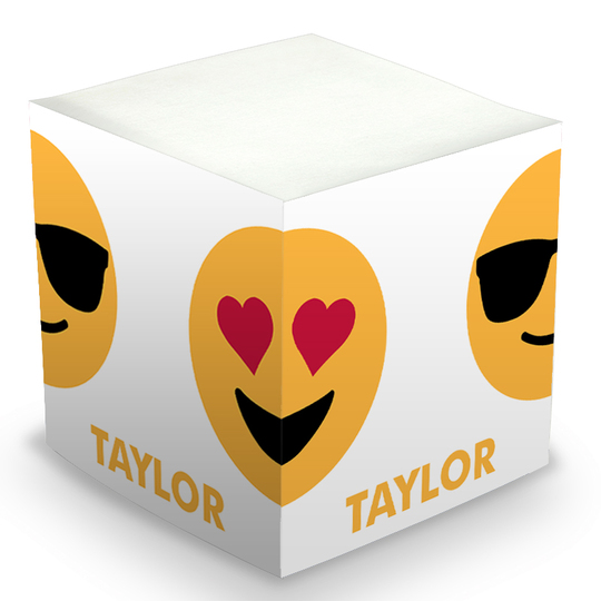 Emoji Repeating Faces Sticky Memo Cube