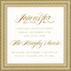 Gold Glittered Holly Die-cut Frame Invitations Image 1 of 2