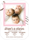 Pink Charming Stamp Triplet Photo Birth Announcements Image 3 of 6