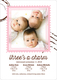 Pink Charming Stamp Triplet Photo Birth Announcements Image 5 of 6