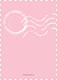 Pink Charming Stamp Triplet Photo Birth Announcements Image 2 of 6