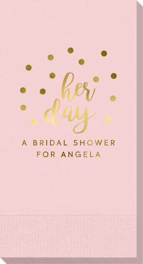 Confetti Dots Her Day Guest Towels