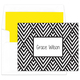 Black Modern Chevron Foldover Note Cards Image 1 of 2