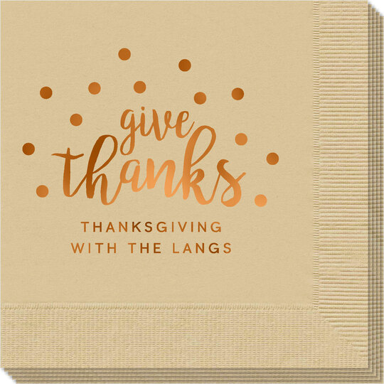 Confetti Dots Give Thanks Napkins