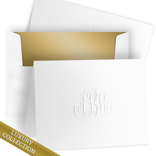 Luxury Monogram Note Card Collection