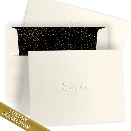 Luxury Embossed Sophie Folded Note Card Collection
