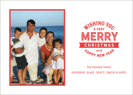 Merry Stamp Letterpress Photo Cards