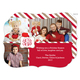 Red Monogram Package Holiday Photo Cards Image 1 of 6