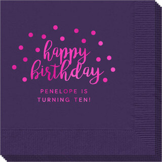 Confetti Dots Happy Birthday Napkins