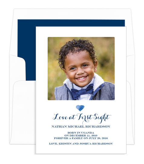 Love At First Sight Photo Adoption Announcements