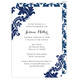 Navy Damask Invitations Image 9 of 12