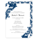 Navy Damask Invitations Image 7 of 12