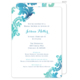 Teal Watercolor Damask Invitations Image 1 of 11