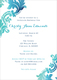 Teal Watercolor Damask Invitations Image 9 of 11