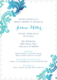 Teal Watercolor Damask Invitations Image 10 of 11
