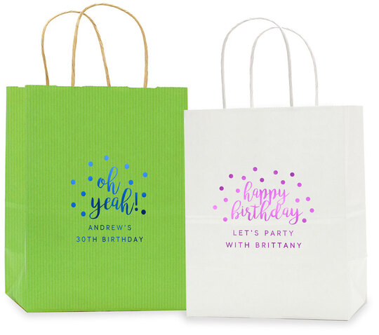 Confetti Dot Twisted Handled Bags