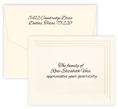 Yorkshire Premier Foldover Note Cards on Double Thick Stock