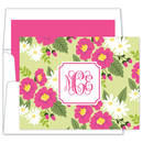 Lillian Floral Bright Foldover Note Cards