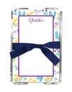 Purple Flower Fields Memo Sheets with Holder
