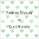 Green Watercolor Petite Hearts Square Gift Stickers Image 2 of 2