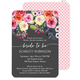 Charcoal Watercolor Roses Invitations Image 4 of 7