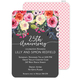 Charcoal Watercolor Roses Invitations Image 5 of 7