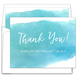 Blue Big Swash Folded Thank You Note Cards Image 1 of 2