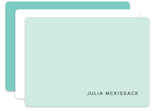 Aqua Mist Note Card Collection
