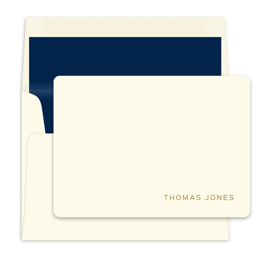 Seashell Ivory Flat Note Cards