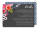 Charcoal Watercolor Roses Wedding Information Cards Image 1 of 3