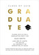 Black with Gold Foil Graduate Invitations Image 4 of 5