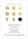 Black with Gold Foil Graduate Invitations Image 3 of 5