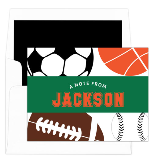 Banner Sports Balls Folded Note Cards