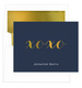 Navy Hugs & Kisses Gold Foil Foldover Note Cards with Lined Envelopes Image 1 of 3