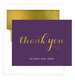 Purple Thank You Foil Stamped Folded Note Cards with Lined Envelopes Image 1 of 3